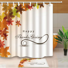 shower curtain set maple leaf bathroom curtain with hooks 71inches