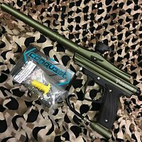 NEW D3FY Sports Conqu3st Semi-Auto Mechanical Paintball Gun - Olive Green