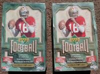 LOT OF 2 1992 Upper Deck Football Factory Sealed WAX FOIL Box WALTER PAYTON HOF