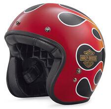 Harley-Davidson Retro Casco de cara abierta de llama