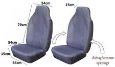 Hard Wearing Fabric Front Pair Of Grey Car Seat Covers Protectors