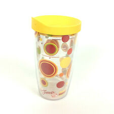 Tervis Tumbler 16 Oz Fiesta Sunny Dots Yellow Travel Lid