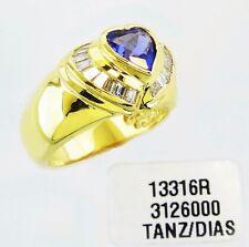 14KT GOLD FABULOUS! LADIES TANZANITE AND DIAMONDS RING (13316R)