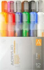 Montana CANS Acrílico Marker Pen Set - 2mm Marcadores Finos-Paquete de 12-color establecido un