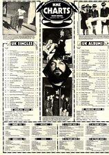 NME CHARTS FOR 3/1/81 JOHN LENNON & YOKO ONOS STARTING OVER WAS NO.1