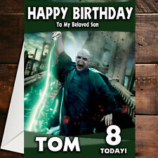 Voldemort Harry Potter Birthday Card personalised Any Name Age Relation Magic