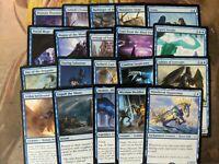 20 Blue MTG Rares - Magic the Gathering mixed Lot