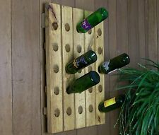 Wine Riddling Rack Distressed Reclaimed Wood Handmade Wine Rack
