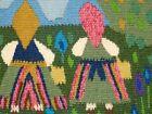 Vintage Swedish Flamsk Flemish Weave- 3 Ladies in a field & Flowers Design