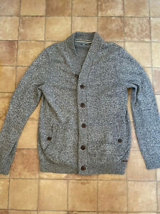 Ted Baker Mens Grey Cardigan, Size 4 (UK L), Very Good Condition