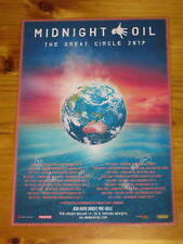 MIDNIGHT OIL - Australia Tour 2017 - SIGNED AUTOGRAPHED - Laminated Promo Poster