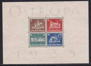 1935 NAZI Germany Ostropa Block SS Souvenir Sheet Gummed Reproduction Stamp sv