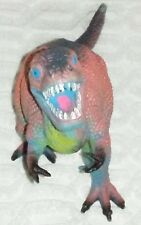 """9""""Pink Blue And Green Tyrannosaurs Rex Plastic Toy Figure"""