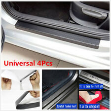 4pcs Accessories Carbon Fiber Car Scuff Plate Door Sill Sticker Panel Protector