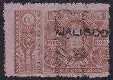 "MEXICO, 1893-94. Revenue Jalisco ""Renta"" JA89, Used"