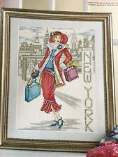 Joan Elliott New York City Glamour Lady Cross Stitch Chart