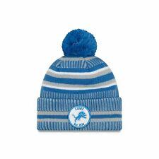 Nfl Detroit Lions Sideline 2019 Bobble Woolly Hat Cuffed Knit Hat Newera