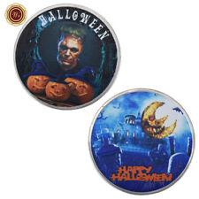 WR SILVER Frankenstein Monster Halloween Eve Commemorative Coin Crafts Gifts Him