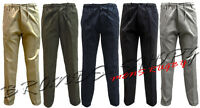 MENS COTTON SMART WAIST CASUAL SUMMER WORKING RUGBY TROUSERS PENTS SIZE 34-42