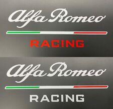 "Alfa Romeo Racing Aufkleber Set weiß = 2 Stück ""Racing"" weiß oder rot"