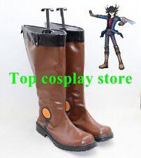Yu-Gi-Oh! Yusei Fudo Brown Marufuji ryo Cosplay Boots shoes shoe boot
