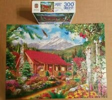 Masterpieces 300 Large Pieces Jigsaw Puzzle Mountain Hideaway Complete