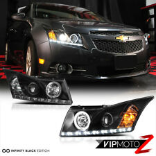 For 11-15 CHEVY CRUZE Black Halo Projector LED Headlight Signal Lamp Assembly