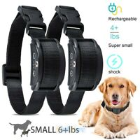 2x Rechargeable Anti Barking E-Collar No Bark Dog Training Shock Collar for Dogs