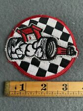 Vintage Indy Race Car Checkerboard Patch B3