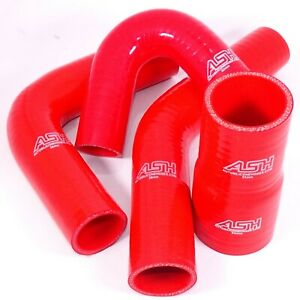 Red Silicone Hoses 135 180 90 45 Degree Elbows Silicon Engine Pipes Air Water