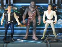 STAR WARS FIGURE 1995 POTF COLLECTION HAN SOLO LUKE SKYWALKER CHEWBACCA LOT