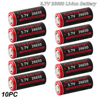 Lot 26650 Li-ion Battery 3.7V Rechargeable Batteries For led Flashlight Torch US