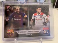 2018 Topps Now Lionel Messi Barcelona Depay UEFA Champions UCL Card R5 PR: 75