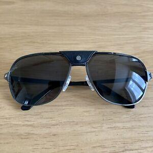 Authentic Brand New Cartier Santos Black Polarized Sunglasses CT0165S 001 £835