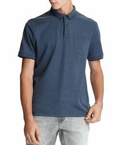John Varvatos Star USA Cambridge Pique Regular Fit Polo Shirt - Blue