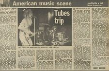 20/9/75PMM22 NEWSPAPER CLIPPING : THE TUBES TUBES TRIP