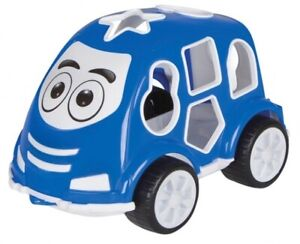 JAM460291 - Toy Educational for Child - Car Of Color Blue With Shapes