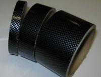 Pellicola adesiva nastro carbonio carbon misura 25mm x 5 metri wrapping moto