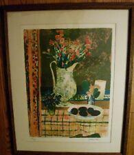 circa 1960s  Jacques Petit Lithograph 'Les Prunes'  Signed Authenticated VGC