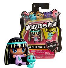 Monster High Monster Minis Cleo De Nile Doll & Hissette Pet  Mini Figures NIP