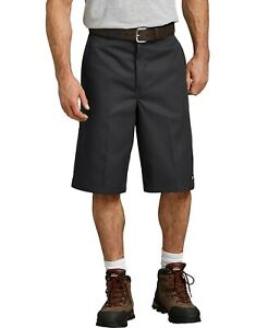"""Dickies Men's Loose Fit 13"""" Twill Work Shorts in Black - 42283BK  Size : 36"""