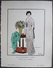 CARLEGLE Pochoir Art Déco ORIGINAL N°1 pl. IX - 1912 RARE GAZETTE DU BON TON