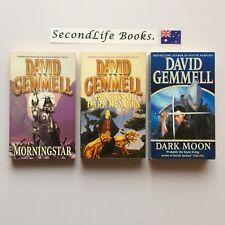 x3 DRENAI Saga Books ~ David Gemmell. FANTASY. Morningstar Knights Moon.