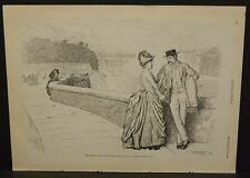"Harper's Weekly Single Pg  ""Their Bridal Tour at Niagara Falls"" 1888 B5#28"
