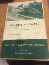 More details for mineral railways by r w kidner, softback, oakwood press - 5th edition 1967