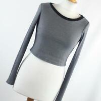Glamorous Womens Size XS Grey Plain Basic Tee