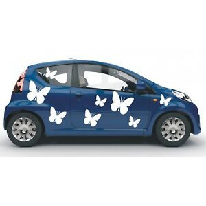 Aufkleber 8 teiliges Set  Schmetterlinge Schmetterling Sticker Autoaufkleber 1