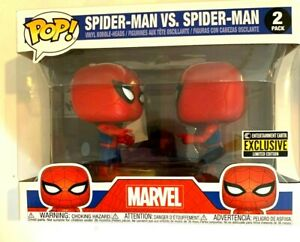 FUNKO Spider-Man Imposter Pop! Vinyl Figure 2-Pack Spiderman vs Spiderman EE Exc