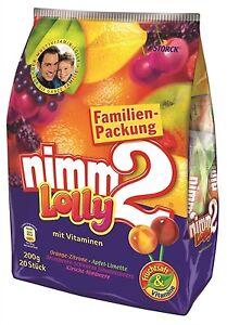 (1,20€/100g) Storck Nimm 2 Lolly / Lutscher 200g XXL Packung