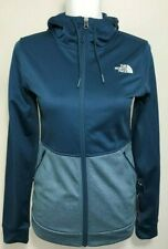 The North Face Women's 100 Cinder Full Zip Hoodie Jacket Monterey Blue Size L
